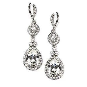 GIVENCHY Silver-Tone Swarovski Element Earrings